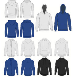 hoody fashion sweatshirt template front and back vector image