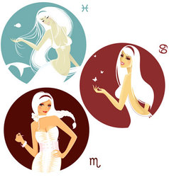 horoscope set vector image