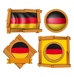 icon design for flag of germany in different vector image