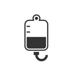 Infuse black icon on white background medical vector