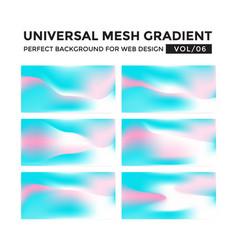 Iridescent colored universal mesh gradient vector