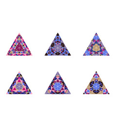 Isolated abstract colorful mosaic triangle shape vector
