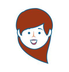 Isolated cute woman face vector