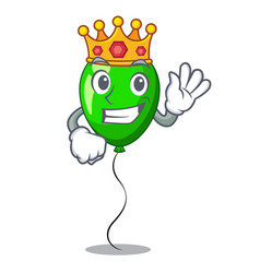 King green balloon on character plastic stick vector