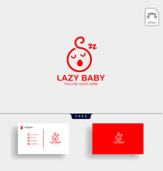 Lazy balazy child creative logo template vector