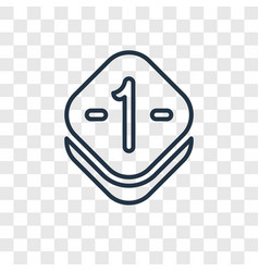 one concept linear icon isolated on transparent vector image