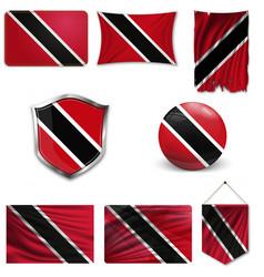 Original and simple trinidad and tobago flag vector