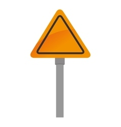 Prohibition sing road danger isolated vector