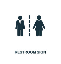 restroom sign icon monochrome style design from vector image