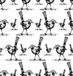 seamless of bird drawing pattern vector image