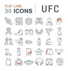 Set line icons ufc vector