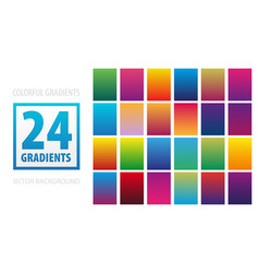 set of 24 gradients templates vector image