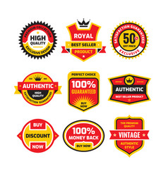 set retro business badge set vector image