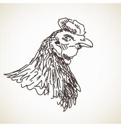 Sketch of hen vector