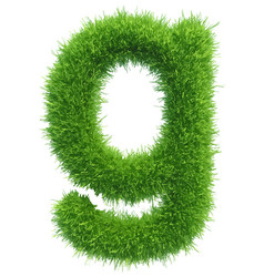 Small grass letter g on white background vector
