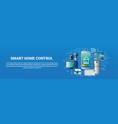 smart home control system smartphone application vector image