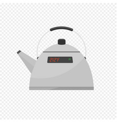 Smart kettle isolated on transparent light vector