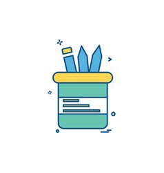 stationary icon design vector image