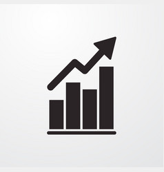 Statistic growth increase chart sign icon vector