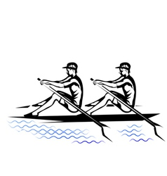 team rowing vector image