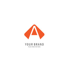 triangle finance logo vector image