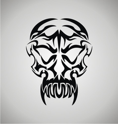 Tribal Demon Skull vector image
