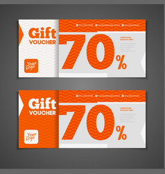 Two coupon voucher design gift voucher template vector