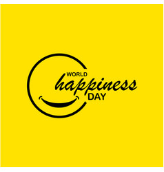 World happiness day template design vector