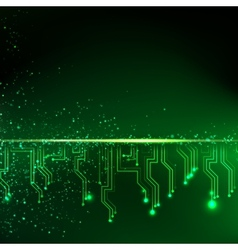 Abstract green lights background vector image