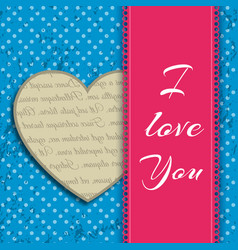 i love you headline design concept vector image vector image