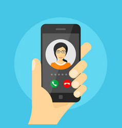 incoming phone call vector image