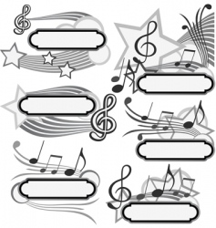 music title vector image