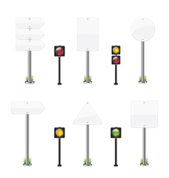 Road wight sign set vector image vector image