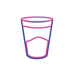 silhouette water glass to drink and fresh beverage vector image vector image