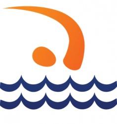 sport silhouette series swimmer vector image