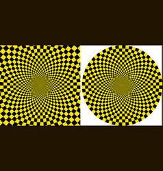 Background taxi yellow black square circular vector