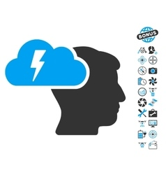 Brainstorming Icon With Copter Tools Bonus vector image vector image