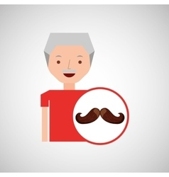 old man fathers day mustache vector image