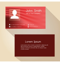 simple red abstract color business card design vector image vector image