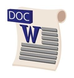 DOC icon cartoon style vector image vector image