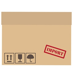 Important box vector image vector image