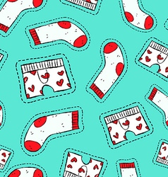 Male underwear patch icon seamless pattern vector image vector image