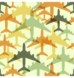 Seamless background pattern with airplanes vector image vector image