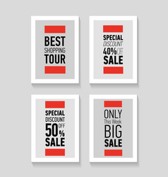Best shopping tour special discount 50 big sale vector