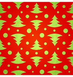 Christmas tree decorative seamless pattern vector image vector image