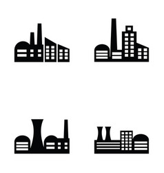 factory icons set vector image vector image