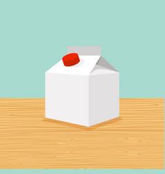 farm cartoon of milk vector image