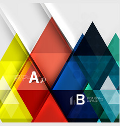 Futuristic triangle tile background with options vector