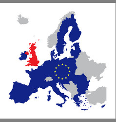 Map of europe with european union members vector