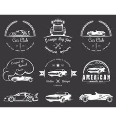 Set of vintage badges vector image vector image